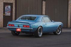 1967 Camaro Blue Rear View