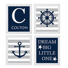 Hey, I found this really awesome Etsy listing at https://www.etsy.com/listing/206678936/nautical-nursery-art-set-anchor-wheel