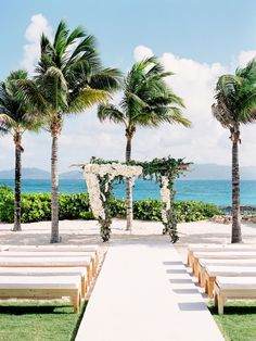 Simple Ways to Pull Off a Cool Beach Wedding--outdoor wedding ceremony with floral and greenery arch, summer weddings, tropical wedding, destination weddings Beach Wedding Aisles, Destination Wedding Locations, Beach Wedding Decorations, Chic Wedding, Wedding Tips, Wedding Ceremony, Wedding Planning, Beach Weddings, Dream Wedding