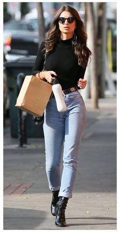 Emily Ratajkowski Street Style, Emily Ratajkowski Outfits, Star Fashion, Look Fashion, Fashion Outfits, Fashion Trends, Fashion Styles, City Fashion, Looks Street Style