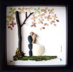Wedding gift pebble art unique engagement gift personalized wedding similar ideas junglespirit Image collections