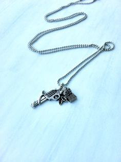 Items similar to Revolver 'n' Rose Riot Necklace: Silver Ball Chain Necklace with Revolver Charm on Etsy Ball Chain, Silver Necklaces, Summer Collection, Revolver, Trending Outfits, Unique Jewelry, Handmade Gifts, Gun, Jewellery