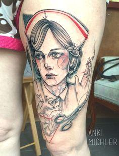 Nurse Tattoo Anki Michler  - Tattoo Art  Hamburg Germany