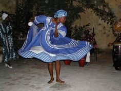 Casa de Africa in Havana, Cuba Dance told story from one of the afro-cuban religions per Dianna, this is Yemaya from the Yoruba pantheon.