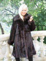 "Lakisha Mahogany Female Mink Swing Stroller 38"""