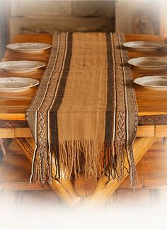 Alpaca table runner was hand-woven using a traditional backstrap loom in the remote Andes of Peru. From Threads of Peru
