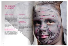 gray with pink in our book about facepainting www.szkolamakijazu.com