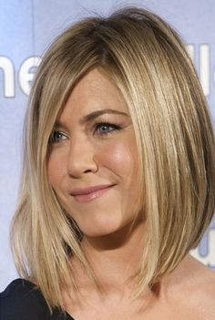 jennifer aniston angled bob hairstyle