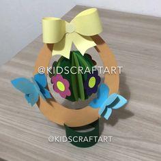Paper easter crafts for kids egg spring Halloween Crafts For Toddlers, Paper Crafts For Kids, Baby Crafts, Toddler Crafts, Easter Crafts, Holiday Crafts, Fun Crafts, Construction Paper Crafts, Paper Daisy