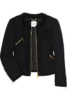 Moschino | Crepe-trimmed tweed jacket | NET-A-PORTER.COM - StyleSays