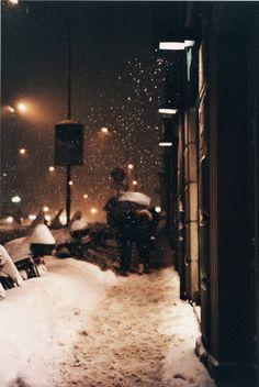 precip in the city --- Temple days in the winter