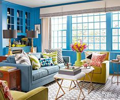 Highlight your home's best features with a pop of color! See how these homeowners use color to easily improve the look of their home and draw attention to unique features like window trim, door frames, woodwork, and more.