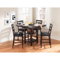 Better Homes and Gardens 5-Piece Counter Height Dining Set, Espresso