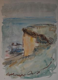 Karl (Korl) Meyer               Hohes Ufer Ahrenshoop               Aquarell               um 1930
