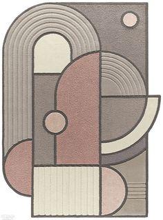 Bohinc Studio Reimagines Zen Gardens in New Line for Kasthall - Magic Carpet Tapis Design, Green Carpet, Dark Carpet, Royal College Of Art, Geometric Lines, Geometric Patterns, Hand Tufted Rugs, Carpet Design, Art Deco Design