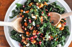 Crispy Autmum Kale Salad - Fifi Cheek
