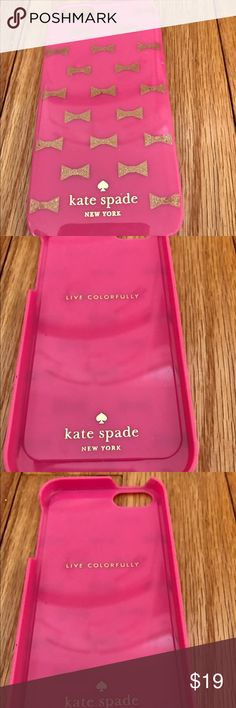 Kate Spade 5S iphone cover Kate spade 5S iphone cover with bows. Price negotiable. kate spade Accessories Phone Cases