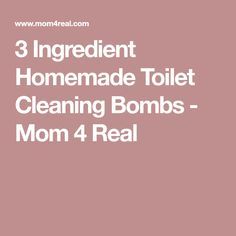 3 Ingredient Homemade Toilet Cleaning Bombs - Mom 4 Real