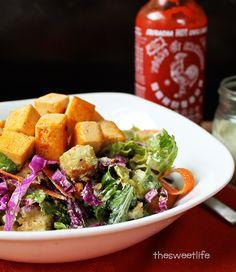 Vegan Backyard Buffalo Ranch Caesar Salad from Salad Samurai