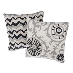 Soho Reversible Square Decorative Pillows (Set of 2) | Overstock.com Shopping - Great Deals on Throw Pillows