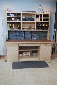 Impressive Build Your Own Garage Workbench Ideas. Irresistible Build Your Own Garage Workbench Ideas. Intarsia Woodworking, Woodworking Bench, Woodworking Shop, Woodworking Projects, Woodworking Courses, Woodworking Beginner, Woodworking Equipment, Woodworking Techniques, Woodworking Videos