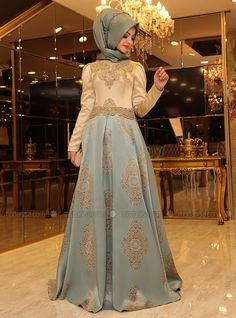 Harem Abiye Elbise - Mint - Pınar Şems