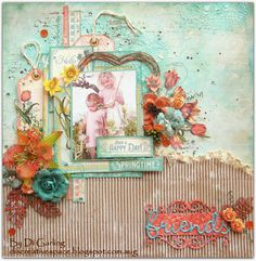 2 Crafty Chipboard : March InspirationThree Layouts to ShareBy Di Garling
