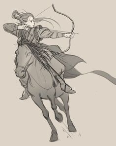 Tb choi 🔜 sf+la on Ride Drawing, Drawing Body Poses, Drawing Reference Poses, Horse Drawings, Art Drawings Sketches, Character Poses, Character Drawing, Archer Pose, Fighting Poses