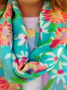 Lilly and monograms. @HalstonWilson