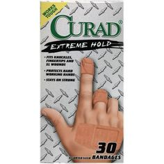 Extreme Hold Bandages Assorted Sizes 30/Box by Curad. $3.09