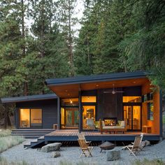 Modern Cabin House Design Modern Mountain Cabin Methow Valley Wa Natural Modern Small And Modern House Plans Cottage House Plans Bedroom Modern Cabins Small Cabin Designs Ideas And