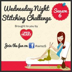 Wednesday Night Stitching Challenge is back! Join us on our blog and enter to win prizes. Follow along with #wnsc6.
