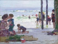 Edward Henry Potthast, Beach scene