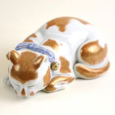 Two Ceramic Cats : Lot 0228