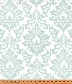 Fabric shower curtain Cecelia Snowy cotton print by kirtamdesigns