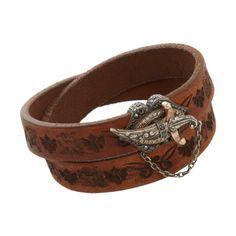 Sevan Bicakci Leather Wrap Bracelet with Diamond Dagger Closure at Barneys.com