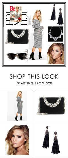 """#ichbinich"" by selmiravehabovicc ❤ liked on Polyvore featuring Boohoo, Miu Miu, Charlotte Tilbury, BaubleBar and Ray-Ban"