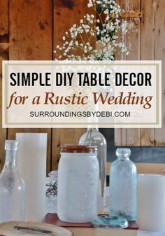 Want a quick and simple way to dress up a summer table? Join me today as we make a Super Simple Lemon Vase - complete with the fresh scent of lemons. Lemon Vase, Wedding Table, Rustic Wedding, Tea Party Centerpieces, Decopage, Decoupage Glass, Rustic Table, Easy Diy, Simple Diy