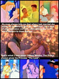 When they give their princess that look. Yet another way I want my life to be like a Disney movie <3