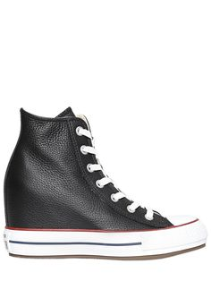 c62e01eb7cee CONVERSE - 80MM ALL STAR LEATHER HIGH TOP SNEAKERS - LUISAVIAROMA Leather  High Tops