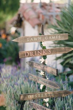 Rustic Wooden Sign Post | Your Event By Erin | We Heart Photography | TheKnot.com