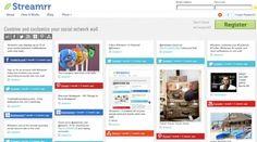 Streamrr, combina y personaliza tus redes sociales en un sólo muro Web Mobile, La Red, It Works, Social Media, Technology, Blog, Computers, Design, Apps