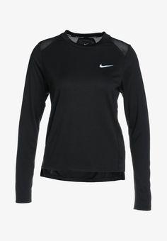 Nike Performance DRY MILER - Funktionstrøjer - black/reflective silver - Zalando.dk