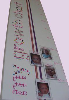 Photo growth chart. Cute idea