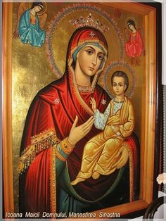 Maica Domnului de la Sihastria - See this image on Photobucket. Blessed Mother Mary, Orthodox Icons, Religion, Princess Zelda, Catholic, Painting, Fictional Characters, Mariana, Dios