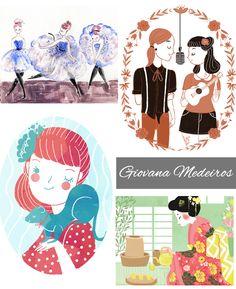 6 ilustradoras que vão conquistar seu blog, Mariana Valente, Juliana Rabelo, Sabrina Eras, Giovana Medeiros, Camila Rosa, Cibele Gomes, Ilustrações, Fofuras
