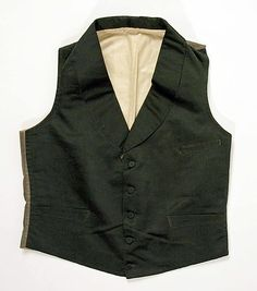Waistcoat  Date: 1840–59 Culture: American or European Medium: silk, cotton