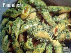 Penne al pesto di rucola, un primo piatto semplice e molto gustoso.