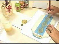 Duna Atelier- Técnica Provençal com aplicação de estêncil.