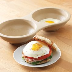 "Perfect for #breakfast sandwiches! Make perfect poached, scrambled, and fried eggs in the new Microwave Egg Cooker. #PamperedChef I can change your morning routine with this great prodcuts... eggs in less than a minute your way, with easy clean up... ""when the dudes find out about this every guy is going to want one"" is what my hubby said after he got his 2 minute less in his favorite egg white omelets! So easy you'll want to book a show just to get for FREE! www.pamperedchef.biz/one800funchefs"